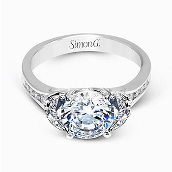 18KW Diamond Engagement Semi-Mount Ring w/ 0.67 ctw