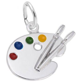 Sterling Silver Artist Palette Charm