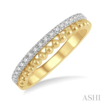 14KY Diamond Bead Ring w/ 0.20 ctw, Size 7
