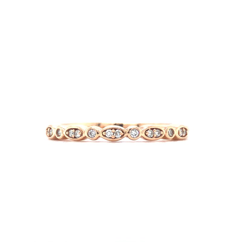Green Brothers Collection 14KR Diamond Stackable Ring w/ 0.08 ctw, Size 7