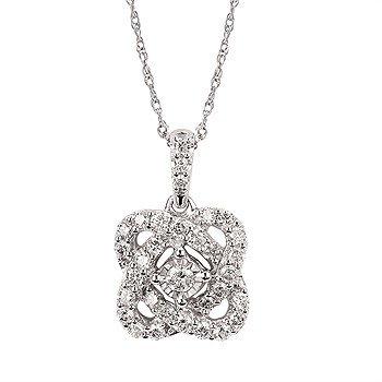 "14KW Diamond Fashion Pendant w/ 0.33 ctw, 18"" Chain"
