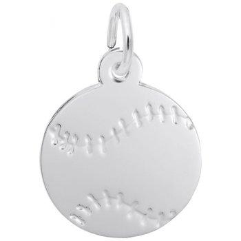 Sterling Silver Baseball Charm