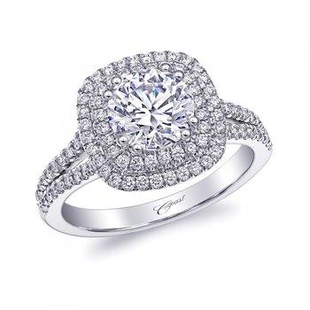 14KW Diamond Engagement Semi-Mount Ring w/ 0.47 ctw, Size 6.5