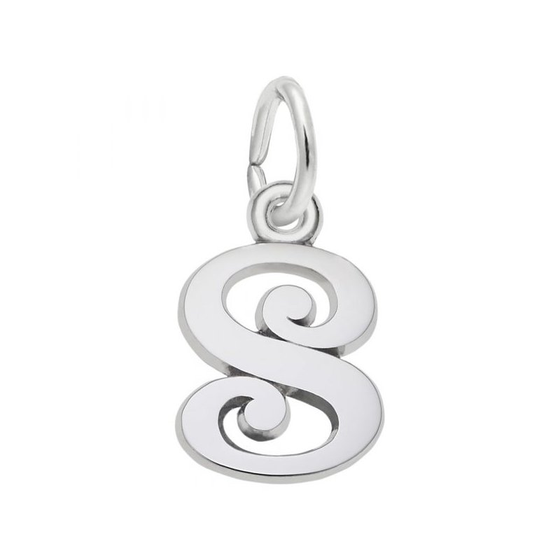 Rembrandt Charms Sterling Silver Initial S Charm