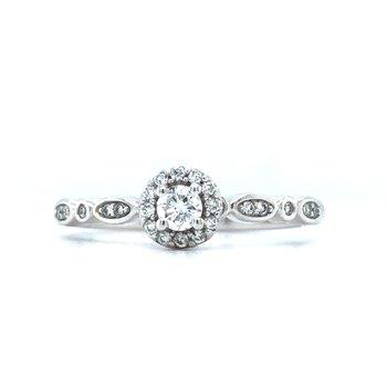 14KW Diamond Engagement Ring w/ 0.25 ctw