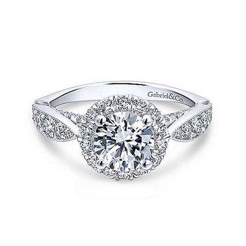 14KW Diamond Semi-Mount Engagement Ring w/ 0.84 CTW Size 6.5