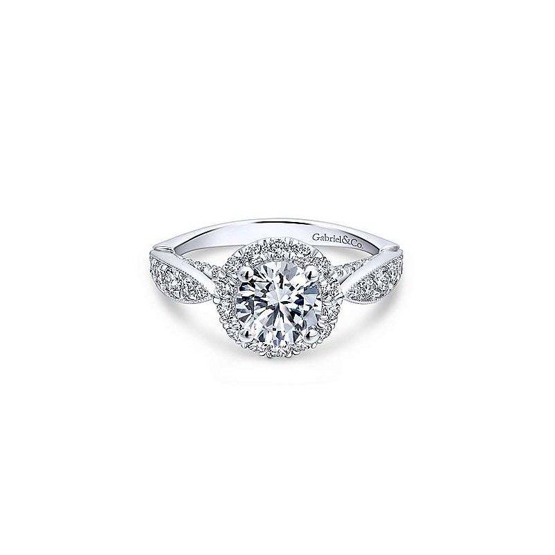 Gabriel & Co. 14KW Diamond Semi-Mount Engagement Ring w/ 0.84 CTW Size 6.5