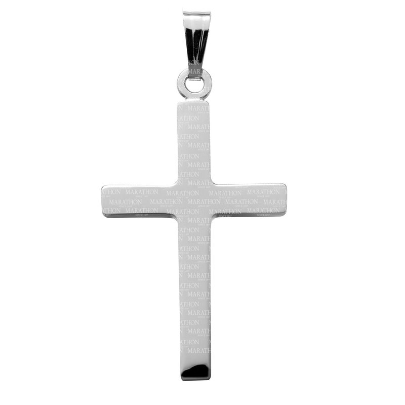 """Green Brothers Collection Sterling Silver Cross w/ Chain 18"""""""