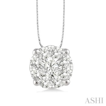 "14KW ""Lovebright"" Diamond Pendant w/ 0.35 ctw, 18"" Chain"