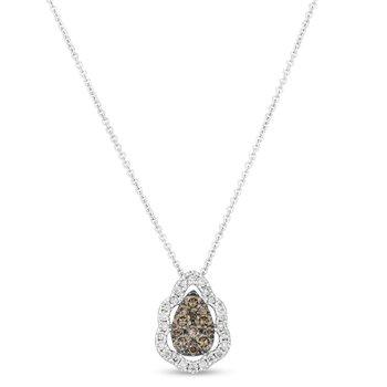 "14KW Diamond Fashion Pendant w/ 0.51 ctw, 18"" Chain"