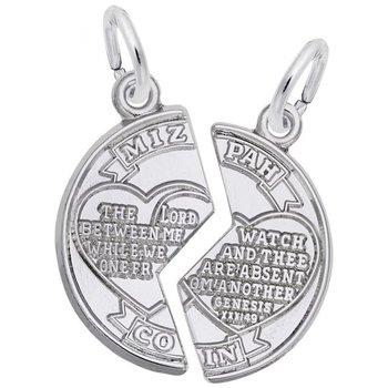 Sterling Silver Mizpah Charm
