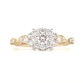 14KY .55 CTW Lovebright  Ring size 7