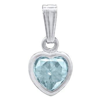 Sterling Silver Heart Birthstone Pendant