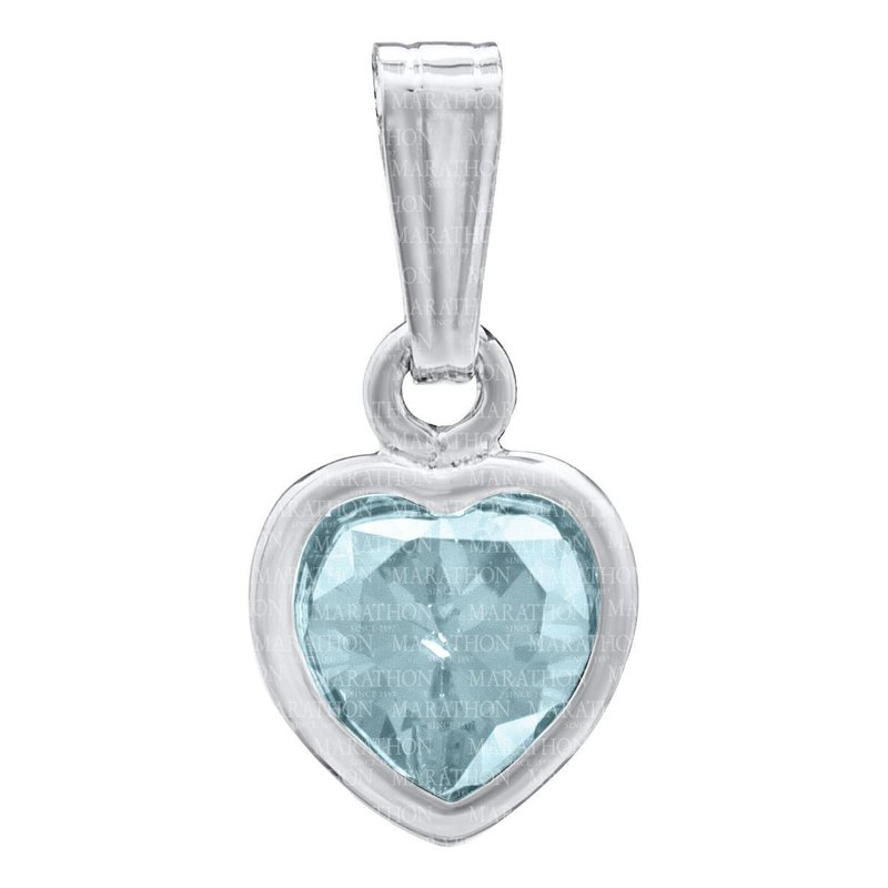 Green Brothers Collection Sterling Silver Heart Birthstone Pendant