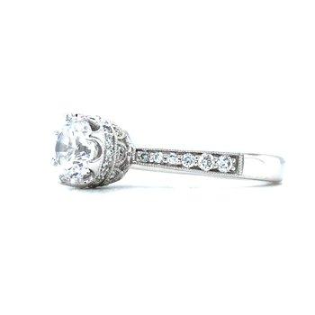 14KW Diamond Semi-Mount Engagement Ring / 0.27 CTW Size 6.5