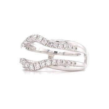 14KW Diamond Ring Guard w/ 0.625 ctw, Size 7