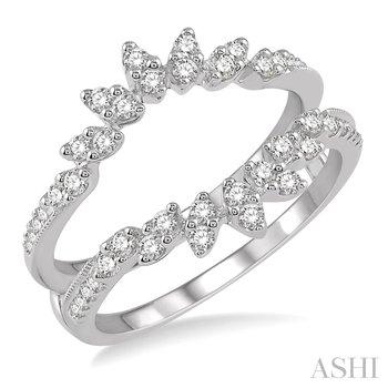 14KW Diamond Insert Ring w/ 0.45 CTW, Size 7.0