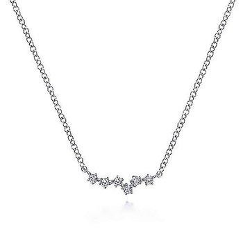 14KW Diamond Constellation Necklace w/ 0.09 ctw