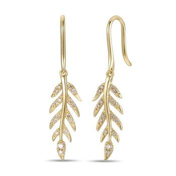 14KY Diamond Fashion Earrings w/ 0.26 ctw