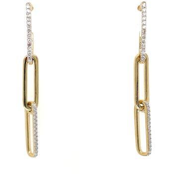 10KY Diamond Dangle Earrings