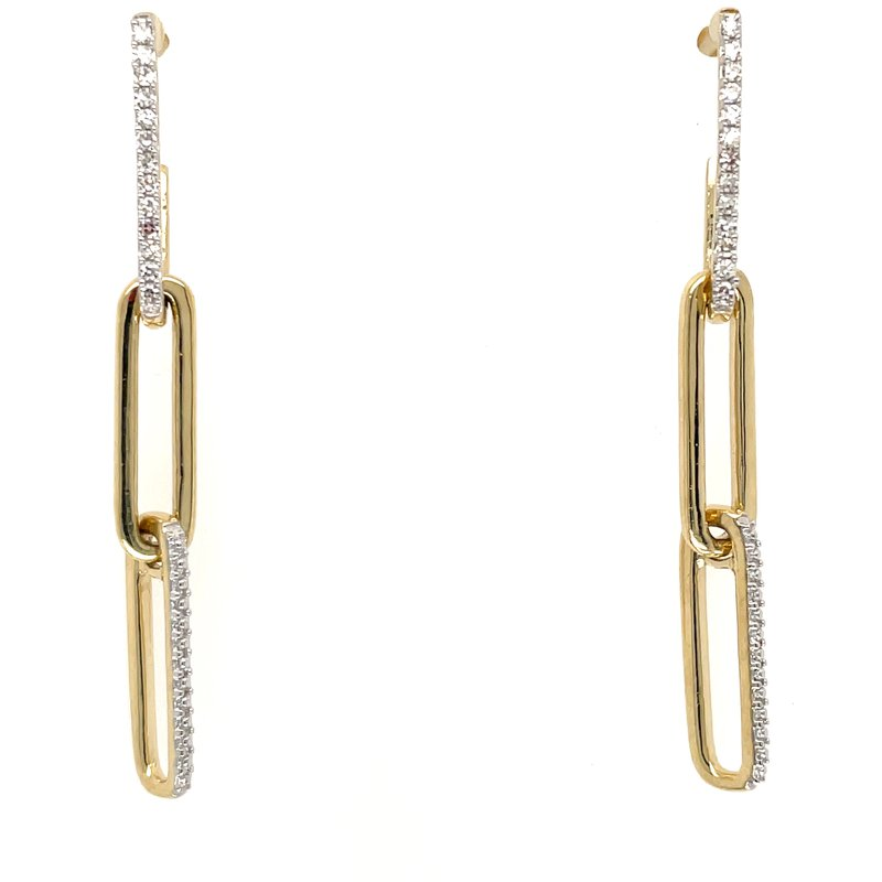 Green Brothers Collection 10KY Diamond Dangle Earrings