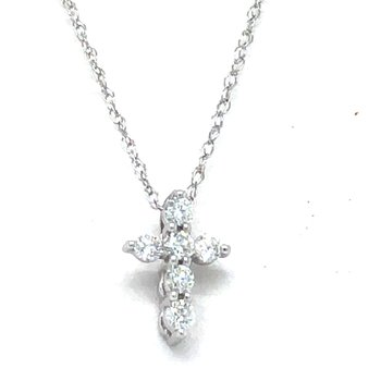 10KW Diamond Cross Pendant w/ 0.12 ctw