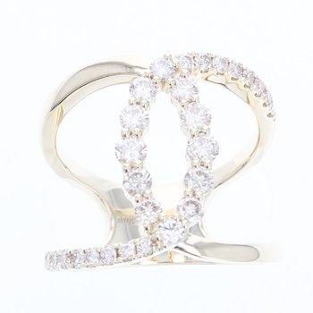 14K Honey Gold Ring w/ 1.0 ctw Nude Diamonds