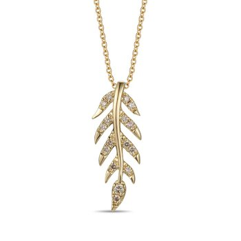 "14KY Diamond Pendant w/ 0.26 ctw, 18"" Chain"