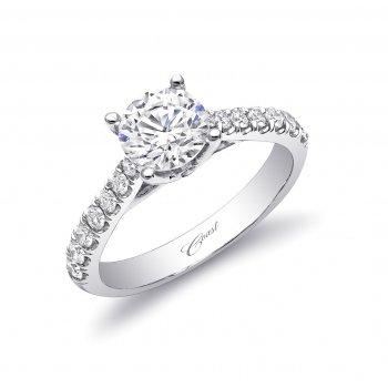 14KW Diamond Engagement Semi-Mount Ring w/ 0.25 ctw, Size 6.5