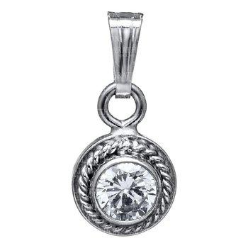 Sterling Silver Bezel Set CZ Pendant