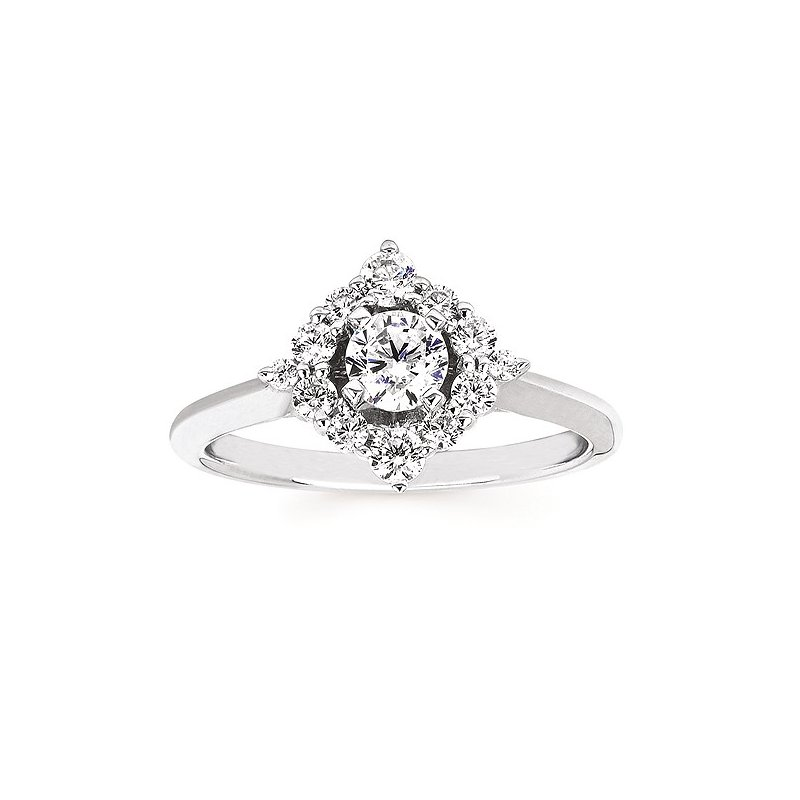 Green Brothers Collection 14KW Diamond Celebration Engagement Semi-Mount Ring w/ 0.42 ctw, Size 7