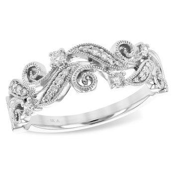 14KW Diamond Fashion Ring w/ 0.18 ctw