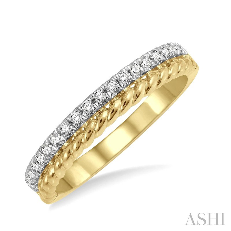 Green Brothers Collection 14KY Diamond Rope Ring w/ 0.20 ctw