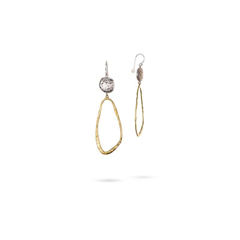 Waxing Poetic Brass & Sterling Silver Earrings
