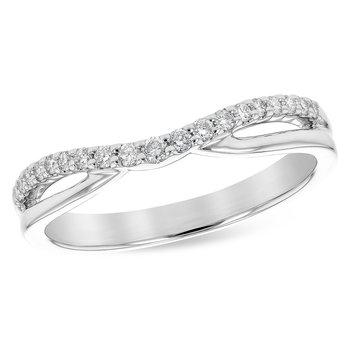 14KW Diamond Ring Enhancer w/ 0.17 ctw, Size 7