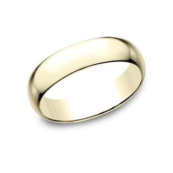 14KY 6 mm Plain Oval Polished Band, Size 9