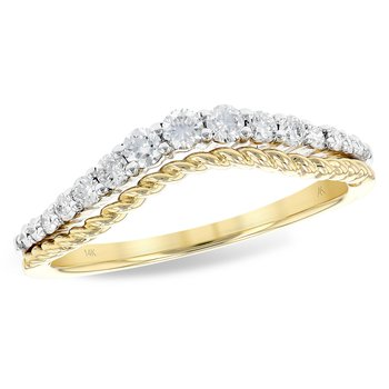 14KY Enhancer Diamond Band w/ 0.30 ctw, Size 7