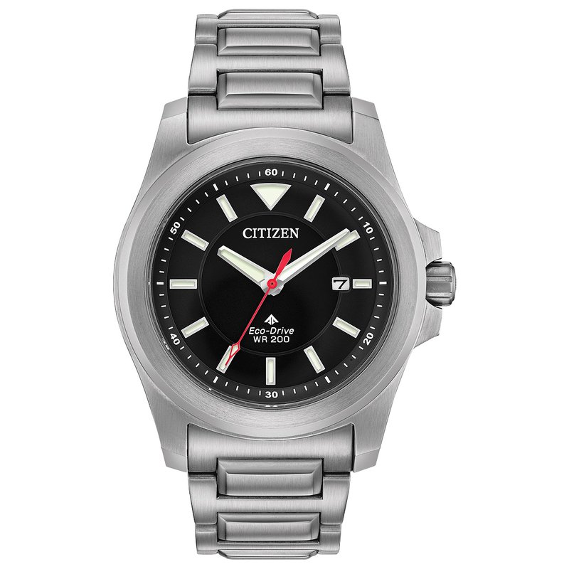Citizen Watches in Stock Stainless Steel Citizen Eco-Drive Watch w/ Black Face