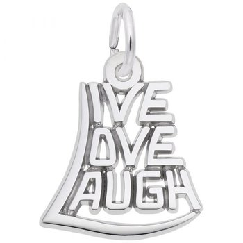 Sterling Silver Live, Love, Laugh Charm