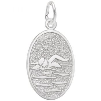 Sterling Silver Swimmer Charm