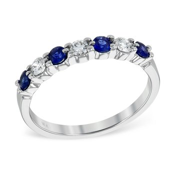 14KW Sapphire and Diamonds Ring w/ 0.55 ctw Sapp. & 0.35 ctw Dia.