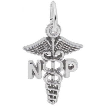 Sterling Silver Nurse Practitioner Charm