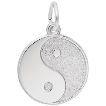 Sterling Silver Ying,Yang Charm
