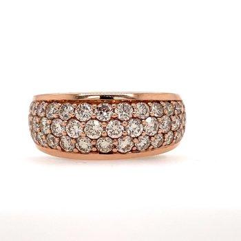14K Strawberry Gold Diamond Ring w/ 1.88 ctw, Size 7