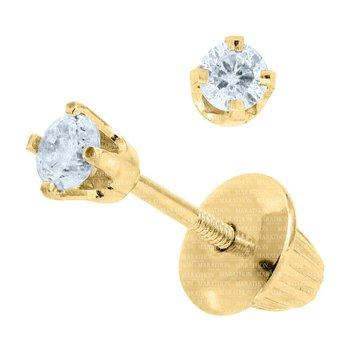 14KY Diamond Earrings w/ 0.10 ctw