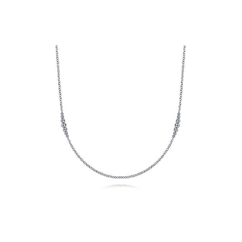 """Gabriel & Co. Sterling Silver Necklace 32"""""""