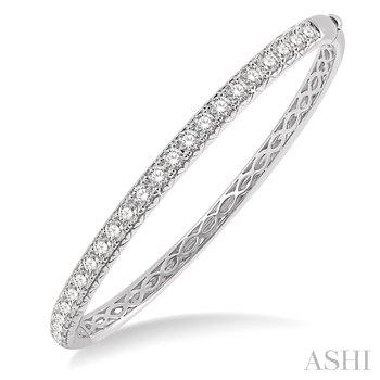 14KW Diamond Round Bangle Bracelet w/ 2.0 ctw