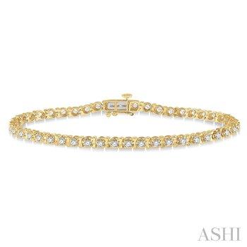 "14KY 7"" Diamond Tulip Tennis Bracelet w/ 2.00 ctw"