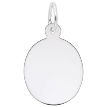 Sterling Silver Oval Disc Charm