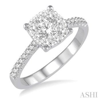 "14KW ""Lovebright"" Diamond Engagement Ring w/ 0.40 ctw Size 6.75"